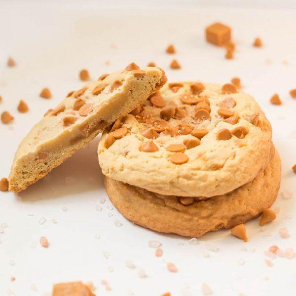 giant butterscotch sea salt cookies